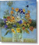 Wildflowers On The Lake Metal Print