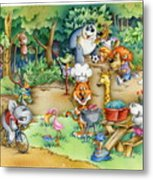 Wildlife Party Metal Print