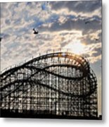 Wildwood Roller Coaster Metal Print