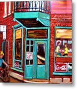Wilenskys Cafe On Fairmount In Montreal Metal Print