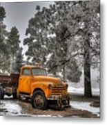 Will Plow For Snow Metal Print