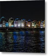 Willemstad Curacao At Night Metal Print