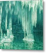 William Degouve De Nuncques 1867 - 1935 Belgian La Grotte Du Drac, Manacor Metal Print