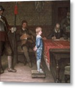 William Frederick Yeames - And When Did You Last See Your Father 1878 Metal Print