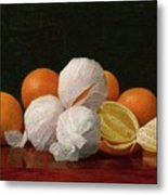 William J. Mccloskey 1859 - 1941 Untitled Wrapped Oranges Metal Print