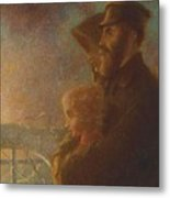 William J Webbe , The Shadow Of A Rock Metal Print