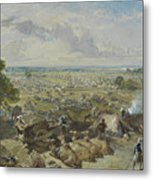 William Simpson, 1823-1899, Nilitary Camp Metal Print