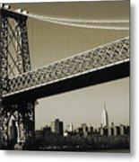 Old New York Photo - Williamsburg Bridge Metal Print