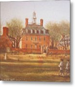 Williamsburg Governors Palace Metal Print by Charles Roy Smith