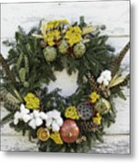 Williamsburg Wreath 09b Metal Print
