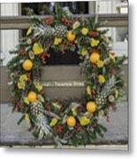 Williamsburg Wreath 18 Metal Print