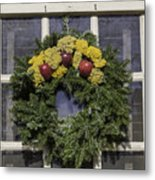 Williamsburg Wreath 25 Metal Print