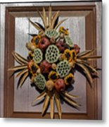 Williamsburg Wreath 35 Metal Print