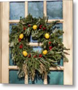 Williamsburg Wreath 37 Metal Print