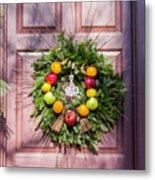 Williamsburg Wreath 53 Metal Print