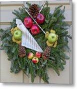 Williamsburg Wreath 87 Metal Print