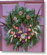 Williamsburg Wreath 92 Metal Print