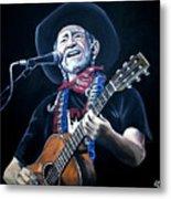 Willie Nelson 2 Metal Print
