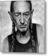 Willie Nelson Metal Print