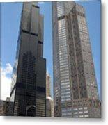 Willis Tower Aka Sears Tower And 311 South Wacker Drive Metal Print