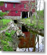 Williston Mill Reflections Metal Print