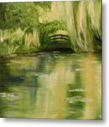 Willow At Monet Metal Print