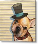 Willy In A Top Hat Metal Print