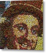 Willy Wonka Fizzy Lifting Bottle Cap Mosaic Metal Print