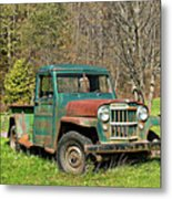 Willys Jeep Pickup Truck Metal Print