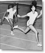Wilma Rudolph 1940-1994 At The Finish Metal Print by Everett