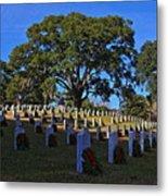 Wilmington National Cemetery Christmas Metal Print