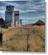 Wilsall Grain Elevators Metal Print
