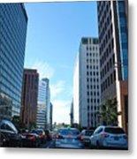 Wilshire Blvd  - West La Traffic Metal Print