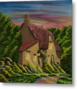 Wiltshire At Sunset Metal Print