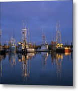 Winchester Bay Reflections Metal Print