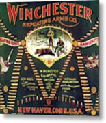 Winchester Double W Cartridge Board Metal Print