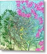 Wind And Dance.two Trees Metal Print