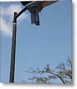 Wind And Solar Powered Light Metal Print
