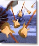 Wind Guitars Metal Print