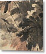 Wind In The Lotus Metal Print