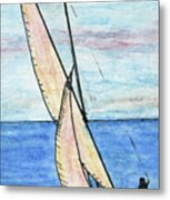 Wind In The Sails Metal Print