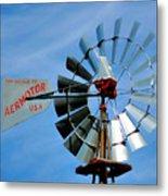 Wind Mill Pump In Usa 2 Metal Print