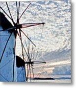 Wind Mills Of Mykonos Metal Print