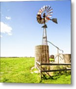 Wind Powered Farming Station Metal Print
