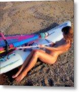 Wind Surf Metal Print by Manolis Tsantakis
