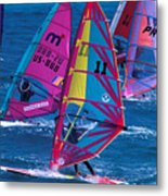 Wind Surfers In Nassau Metal Print