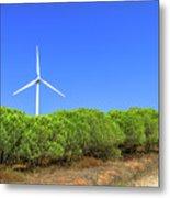 Wind Turbines Landscape Metal Print