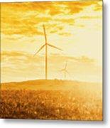 Windfarm Sunset Metal Print