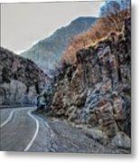 Winding Canyon Road Metal Print