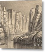 Winding River Through A Rock Formation (philae, Egypt) Metal Print